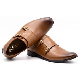 Lukas Leather formal shoes Monki 287LU light brown 2