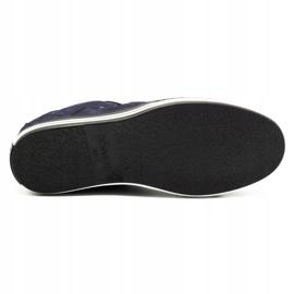 Polbut Men's casual shoes 1801 navy blue nubuck / camel multicolored 1