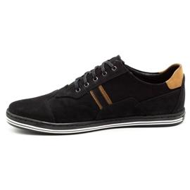 Polbut Casual men's shoes 1801 black nubuck / camel 3