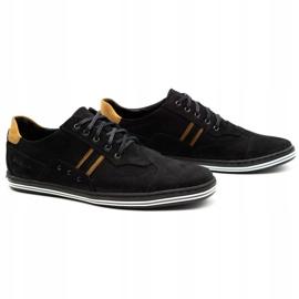 Polbut Casual men's shoes 1801 black nubuck / camel 4
