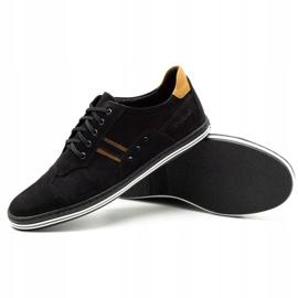 Polbut Casual men's shoes 1801 black nubuck / camel 5