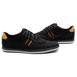 Polbut Casual men's shoes 1801 black nubuck / camel 7