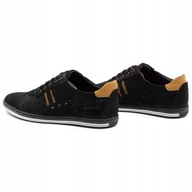 Polbut Casual men's shoes 1801 black nubuck / camel 9