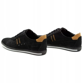 Polbut Casual men's shoes 1801 black nubuck / camel 2