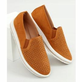 Shoes openwork camel 918-15 Camel brown 2