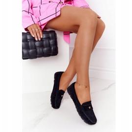 S.Barski Women's suede loafers from S. Bararski Black 2