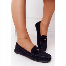 S.Barski Women's suede loafers from S. Bararski Black 1