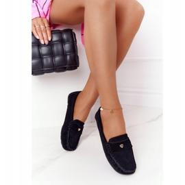 S.Barski Women's suede loafers from S. Bararski Black 3