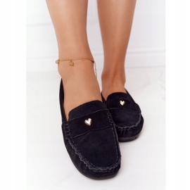 S.Barski Women's suede loafers from S. Bararski Black 4