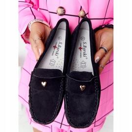 S.Barski Women's suede loafers from S. Bararski Black 5