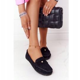S.Barski Women's suede loafers from S. Bararski Black 6