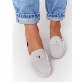S.Barski Women's Suede Loafers S. Barski Gray grey 1