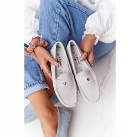 S.Barski Women's Suede Loafers S. Barski Gray grey 2