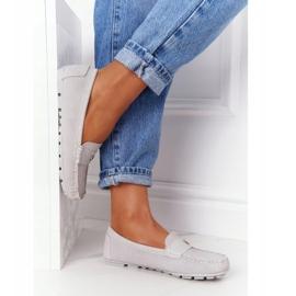 S.Barski Women's Suede Loafers S. Barski Gray grey 4