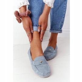 S.Barski Women's Suede Loafers S. Barski Blue 4