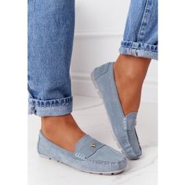 S.Barski Women's Suede Loafers S. Barski Blue 6