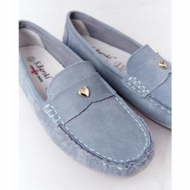 S.Barski Women's Suede Loafers S. Barski Blue 1