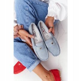 S.Barski Women's Suede Loafers S. Barski Blue 3