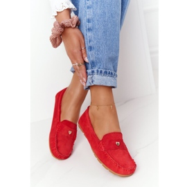 S.Barski Women's suede loafers from S. Bararski Red 1