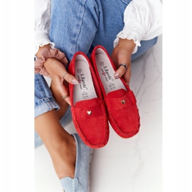 S.Barski Women's suede loafers from S. Bararski Red 3