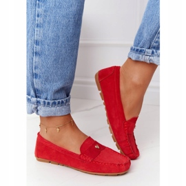 S.Barski Women's suede loafers from S. Bararski Red 4