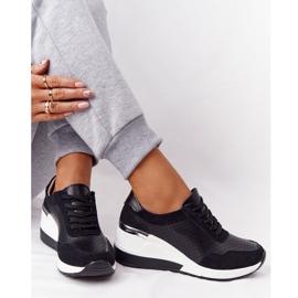 S.Barski Openwork Leather Wedge Sneakers S. Bararski Black white 5