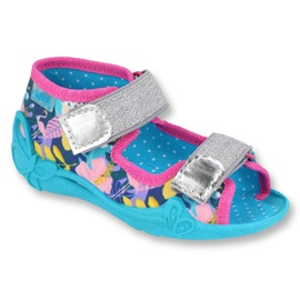 Befado children's shoes 242P098 blue pink silver multicolored 1