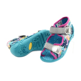 Befado children's shoes 242P098 blue pink silver multicolored 3