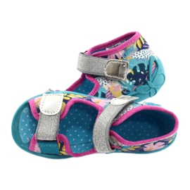 Befado children's shoes 242P098 blue pink silver multicolored 4