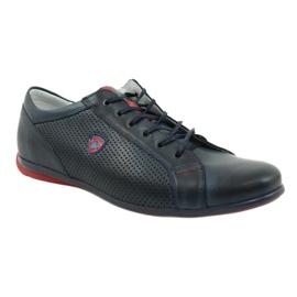 Joker Men's casual shoes 295 navy blue red 3