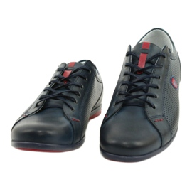Joker Men's casual shoes 295 navy blue red 4