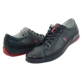 Joker Men's casual shoes 295 navy blue red 5
