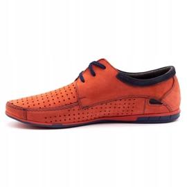 Mario Pala Men's openwork shoes 563 red 1