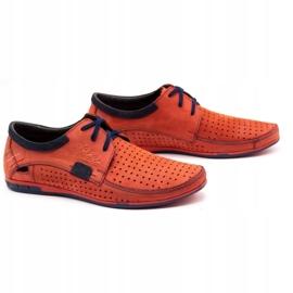Mario Pala Men's openwork shoes 563 red 3