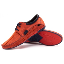 Mario Pala Men's openwork shoes 563 red 4