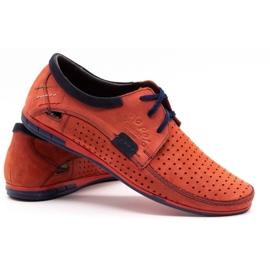 Mario Pala Men's openwork shoes 563 red 5