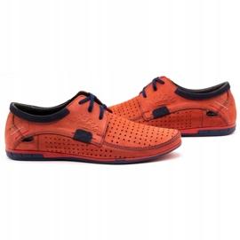 Mario Pala Men's openwork shoes 563 red 6