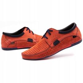 Mario Pala Men's openwork shoes 563 red 7