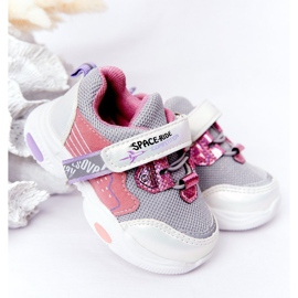 Children's Sport Shoes Sneakers White and Pink Space Ride grey multicolored 1
