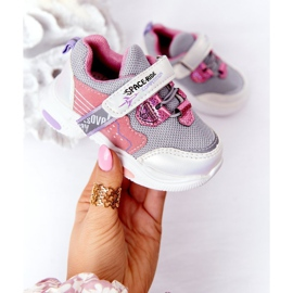 Children's Sport Shoes Sneakers White and Pink Space Ride grey multicolored 2