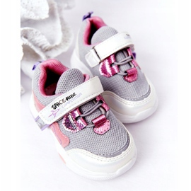 Children's Sport Shoes Sneakers White and Pink Space Ride grey multicolored 3