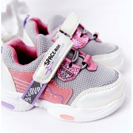 Children's Sport Shoes Sneakers White and Pink Space Ride grey multicolored 4