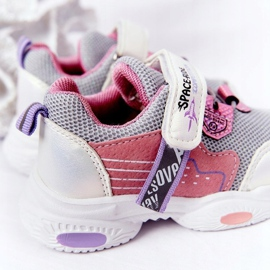 Children's Sport Shoes Sneakers White and Pink Space Ride grey multicolored 5