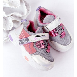 Children's Sport Shoes Sneakers White and Pink Space Ride grey multicolored 6
