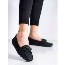 Clowse Black Loafers With A Bow 1