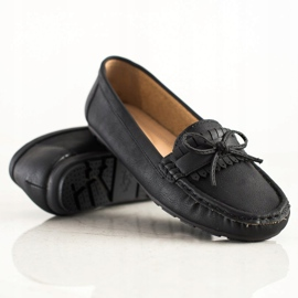 Clowse Black Loafers With A Bow 4