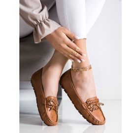 Clowse Brown Loafers With A Bow 2