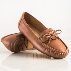Clowse Brown Loafers With A Bow 1