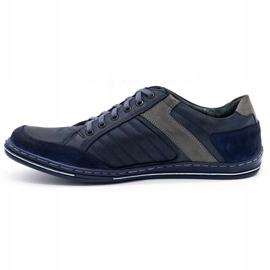 Olivier men's leather shoes 236GT navy blue 2