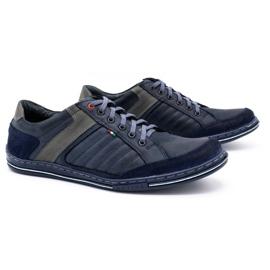 Olivier men's leather shoes 236GT navy blue 3